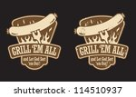 barbecue vector emblem with the ... | Shutterstock .eps vector #114510937