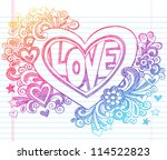 love lettering heart back to... | Shutterstock .eps vector #114522823