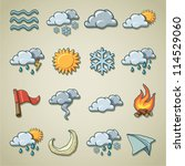 Freehand icons - Weather - stock vector