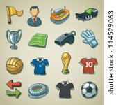 Freehand icons - Football / Soccer - stock vector