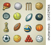 Freehand icons - Sports - stock vector