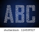 set of circuit board style... | Shutterstock .eps vector #114539527