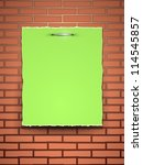 Torn Green Paper With Place Fo...