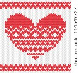Knitted Vector Heart On...
