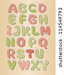 alphabet  a modern cute font....   Shutterstock .eps vector #114549793