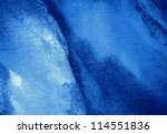 abstract dark blue painting by oil on a canvas,  illustration,  background - stock photo