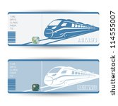 Train tickets - vector illustration