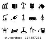 oil industry icon - stock vector