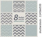 a set of 8 seamless retro zig... | Shutterstock .eps vector #114566533