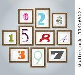 vector numerics gallery   Shutterstock .eps vector #114569527