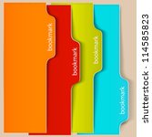 colorful bookmarks and banners... | Shutterstock .eps vector #114585823