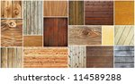 Wood textures collection - stock photo