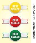 labels   bestseller. | Shutterstock . vector #114597907