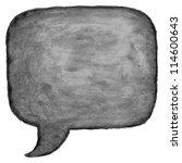 black watercolor blank speech... | Shutterstock .eps vector #114600643