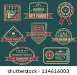 vector set. vintage labels.... | Shutterstock .eps vector #114616003