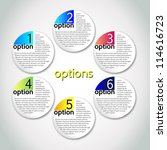 vector progress options   one ... | Shutterstock .eps vector #114616723