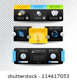 collection of web elements ... | Shutterstock .eps vector #114617053