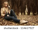 beautiful young girl in the... | Shutterstock . vector #114617527