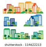 vector of city skyline | Shutterstock .eps vector #114622213