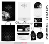 luxury stationery design with... | Shutterstock .eps vector #114651397