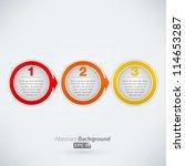 easy three step arrow bubbles | Shutterstock .eps vector #114653287