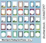 vector set  retro mixed sport... | Shutterstock .eps vector #114667297