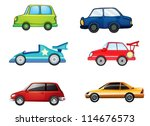 illustration of various cars on ... | Shutterstock .eps vector #114676573