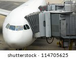 Airplane passenger boarding - stock photo