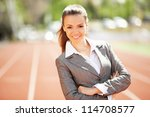 businesswoman sport manager and ... | Shutterstock . vector #114708577
