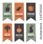 organic labels with vegetables