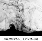 abstract art photo from chemical solution ink - stock photo