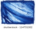 abstract painting in cold tones,  illustration,  background - stock photo