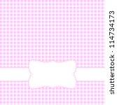 Pink Retro Frame. Vector...