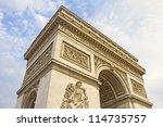 arc de triomphe  paris  france | Shutterstock . vector #114735757