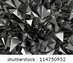 abstract faceted crystallized background - stock photo