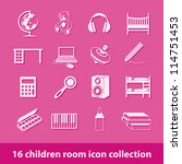 16 Children Room Icon Collection