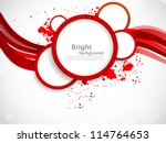 background with red circles | Shutterstock .eps vector #114764653