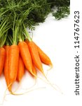 Carrot on white background - stock photo
