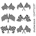 checkered flags set for racing... | Shutterstock . vector #114771157
