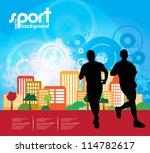 marathon. sport illustration
