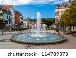 fountain in saverne  alsase ... | Shutterstock . vector #114789373