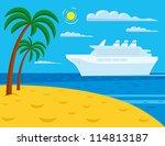 Passenger Cruise Liner Near...