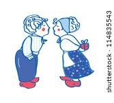 Delft Blue Kissing Pair Card...