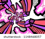 a hand drawing pattern made of...   Shutterstock . vector #1148468057