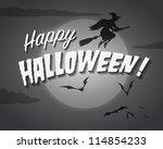movie ending screen   happy... | Shutterstock . vector #114854233