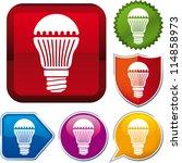 vector icon led lightbulb