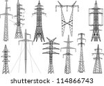 illustration with electric... | Shutterstock .eps vector #114866743