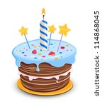 Birthday cake - stock vector