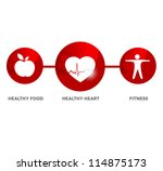 wellness and medical symbol.... | Shutterstock .eps vector #114875173