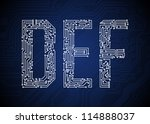 set of circuit board style... | Shutterstock .eps vector #114888037
